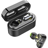 SoundPEATS Wireless Earbuds, Bluetooth 5.0 Wireless Headphones Dual Dynamic Drivers TWS Bluetooth Earphones Built in Mic IPX6 Sweatproof Headphones True Wireless Earbuds with Portable Charging Case (Black)