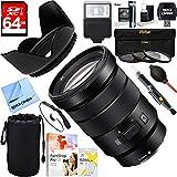 Sony (SEL1635Z) 16-35mm Vario-Tessar T FE F4 ZA OSS Full-frame E-Mount Lens + 64GB Ultimate Filter & Flash Photography Bundle