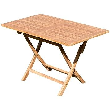 Amazon De Ass Echt Teak Holz Klapptisch Holztisch Gartentisch Tisch