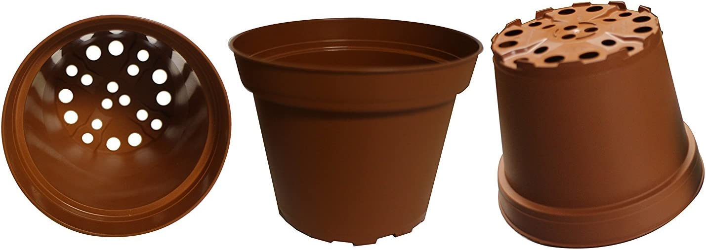 30-Pack, Plastic Pots for Plants, Cuttings & Seedlings, 4-Inch. Color: Terracotta: Garden & Outdoor