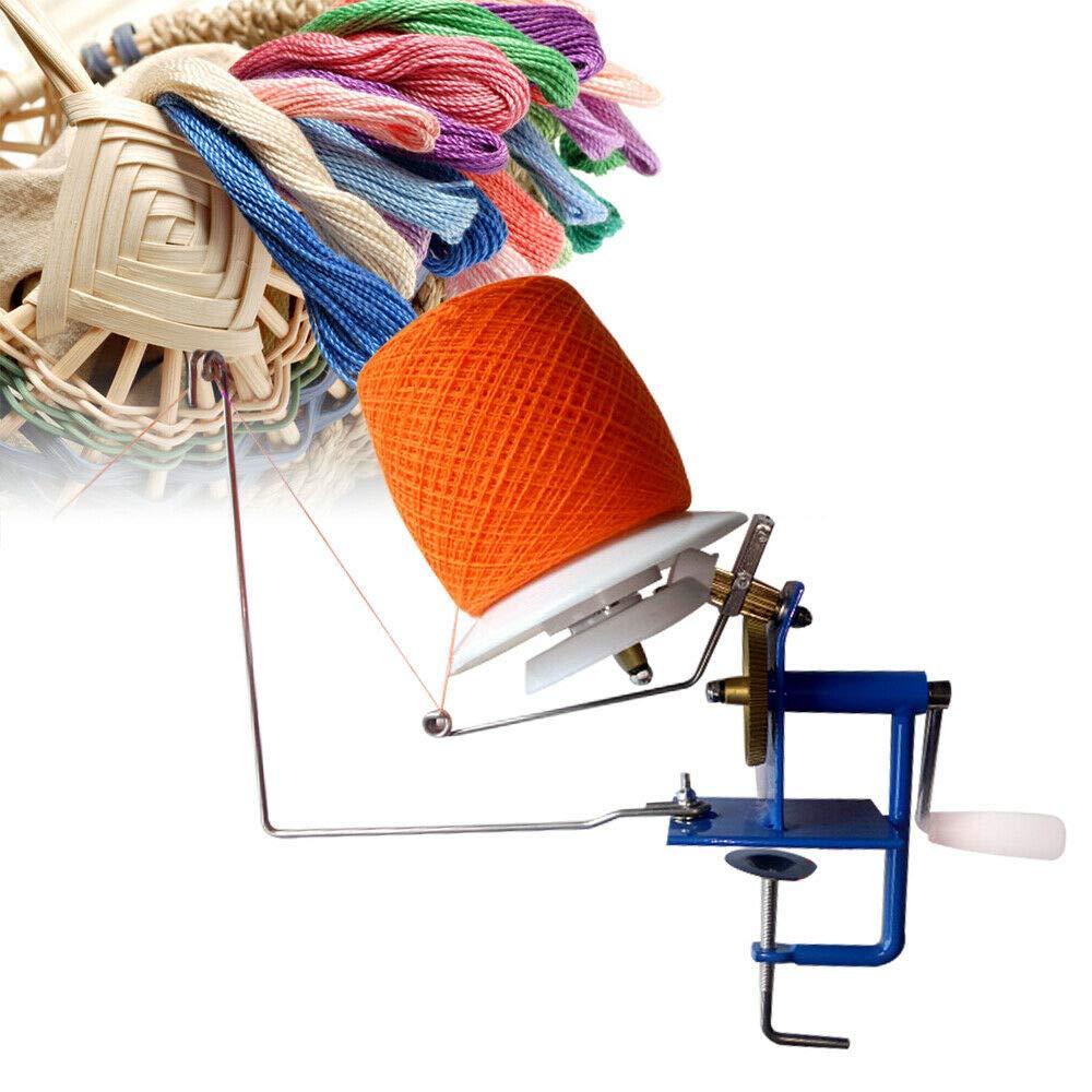 Yarn Ball Winder, Hand Operated Metal Yarn Fiber Wool String Ball Winder 500g Capacity for Needlecraft Winding & Dispensing Accessories - US Shipping