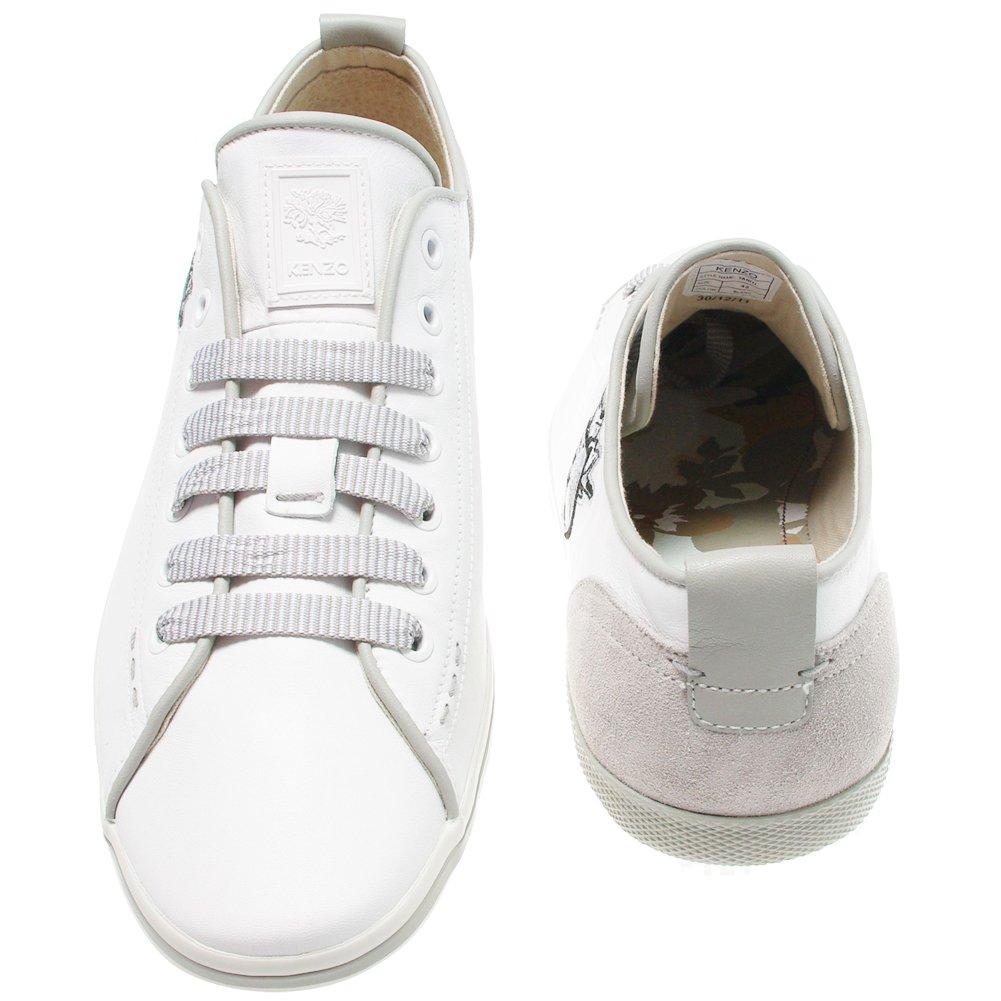 Kenzo, Tahiti M179, Baskets cuir blanche Homme (43): Amazon