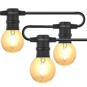 2a5e6f7dc7e289 LED G40 Guirlande Guinguette 7.62M Ampoule E12 Blanche Chaude Connectable  jusqu à 10 Brins