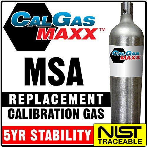 Multi Calibration Gas Mix: 10 PPM Hydrogen Sulfide, 300 PPM Carbon Monoxide, 1.45% (58% LEL) Pentane Simulant, 15% Oxygen, Balance Nitrogen (58 - 58 Carbon
