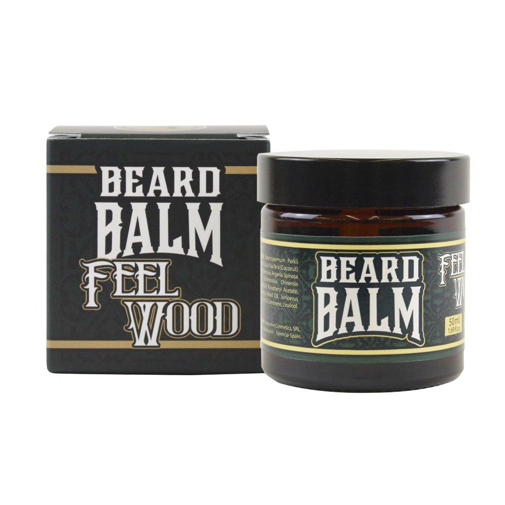 HEY JOE - Beard Balm Nº4 FEEL WOOD 50ml | Balsamo para barba 50ml con ARGÁN, JOJOBA, COCO y manteca de KARITÉ. Aroma a CEDRO Y ENEBRO INTERACTIVE COSMETICS SRL