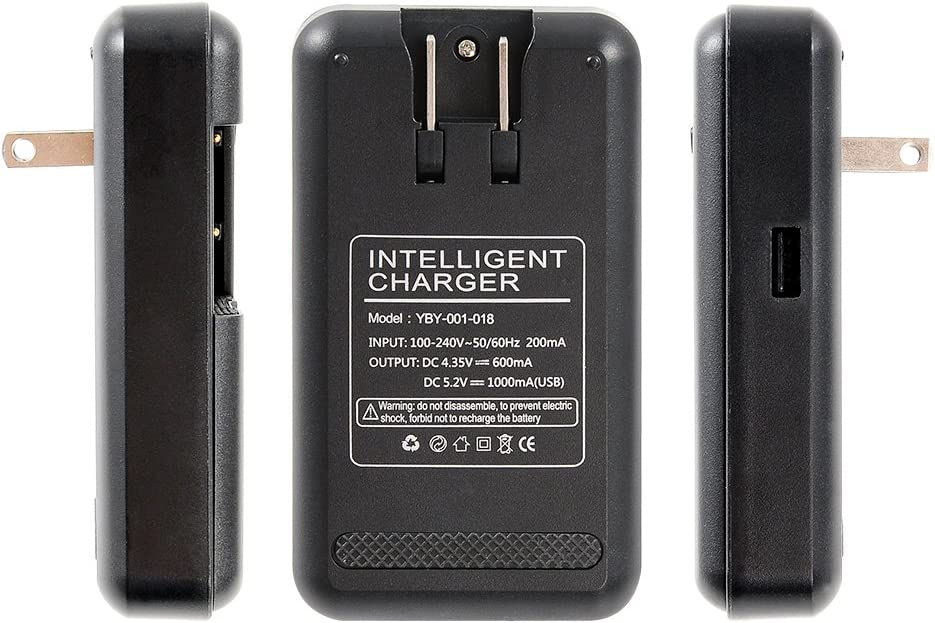 Note 2 3 Edge LG Optimus G G2 G3 XiSHUAi Universal Battery Charger with USB Output Port for 3.8V High-Voltage Battery of Samsung Galaxy S2 S3 S4 J5 Mega 24-Month Warranty