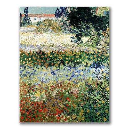 Garden in Bloom by Vincent van Gogh, 18x24-Inch Canvas Wall Art