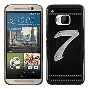 LECELL -- Funda protectora / Cubierta / Piel For HTC One M9 -- Number 7 --