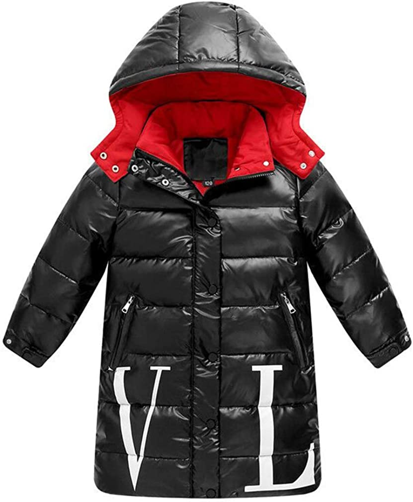 GAGA Mens Winter Zip-Up Thicken Long Down Jackets Coat with Hooded
