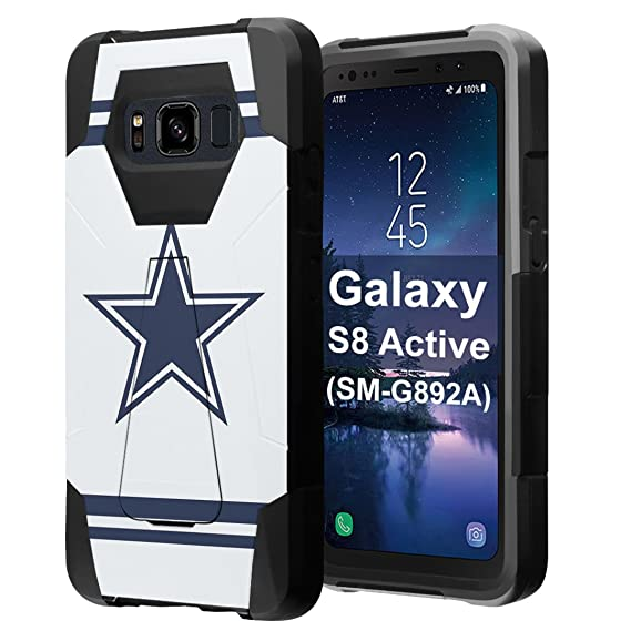 super popular 8b8e2 dea85 for Galaxy S8 Active, Galaxy S8 Active Case, Capsule-Case Hybrid Fusion  Dual Layer Shockproof Combat Kickstand Case (Black) for Samsung Galaxy S8  ...