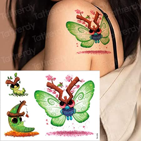 tzxdbh 7pcs Tatuaje Etiqueta Animales Cabrito del niño de la ...