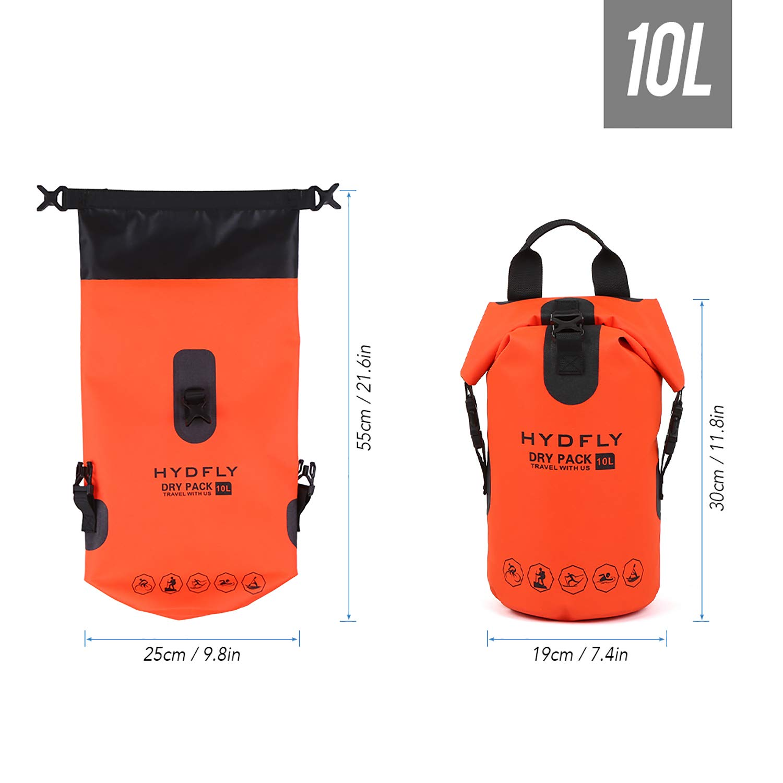 Swimming Bag Keeps Gear Dry for Beach Rafting Kayaking River Trekking Bag Sailing Trekking Backpack PAVEHAWK Floating Waterproof Dry Bag Pack Sack 10L//15L//20L