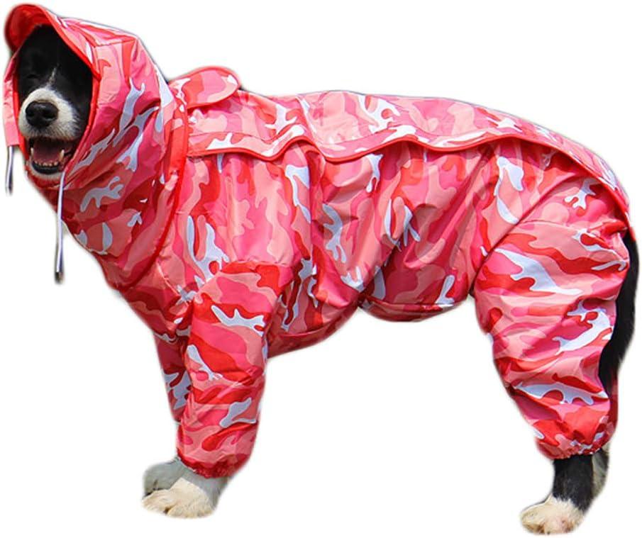 Wasserdichte Hundejacke Regenjacke mit Kapuze und Kragenloch Verstellbarer Outdoor-Tunnelzug Hundemantel 10 Gr/ö/ßen TFENG Hunde Regenmantel mit Abnehmbarem Hoodie