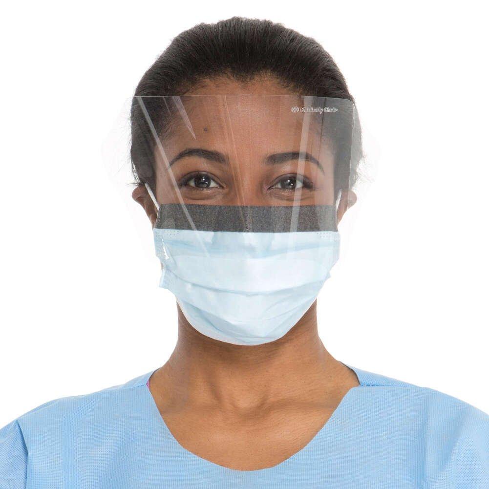 HALYARD FLUIDSHIELD Level 2 Procedure Masks, Fluid Resistant, Blue 62116 (Box of 25)