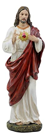 Sacred Heart of Jesus Statue Christ GOD Divine Love for Man Figurine