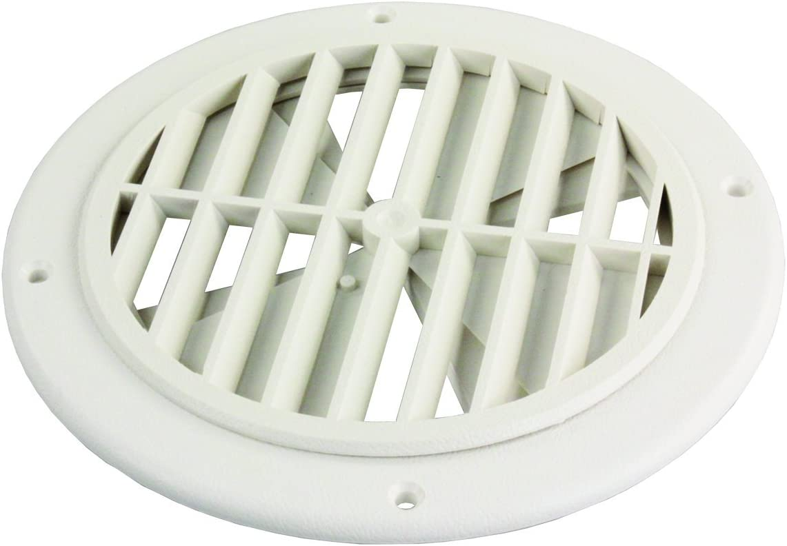 JR Products GRILL2D-A Polar White Dampered Ceiling Grill