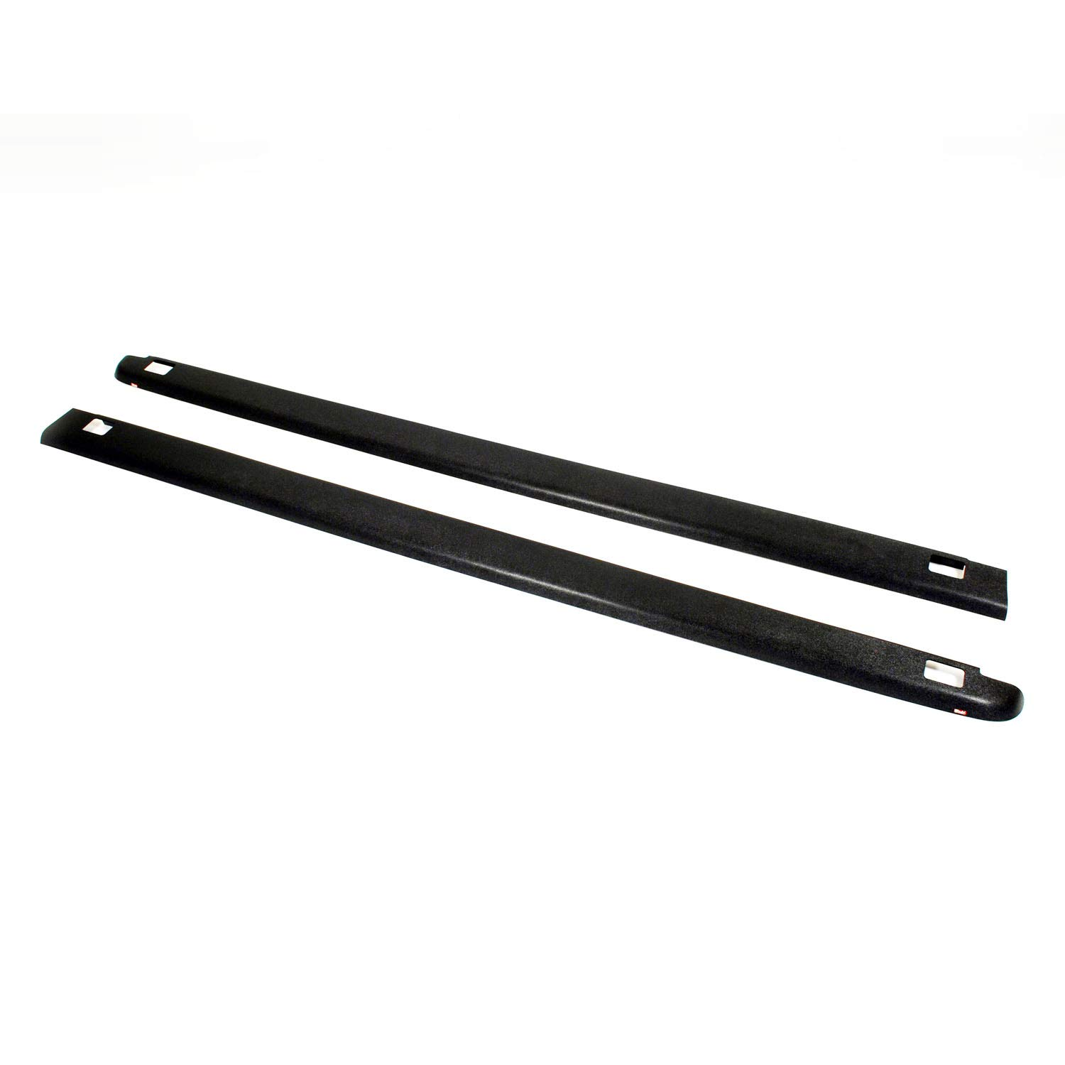 Wade 72-41147 Truck Bed Rail Caps Black Smooth Finish with Stake Holes for 2007-2013 GMC Sierra 1500 & 2007-2014 GMC Sierra 2500HD 3500 (Except Dually) with 8ft bed (Set of 2) Westin