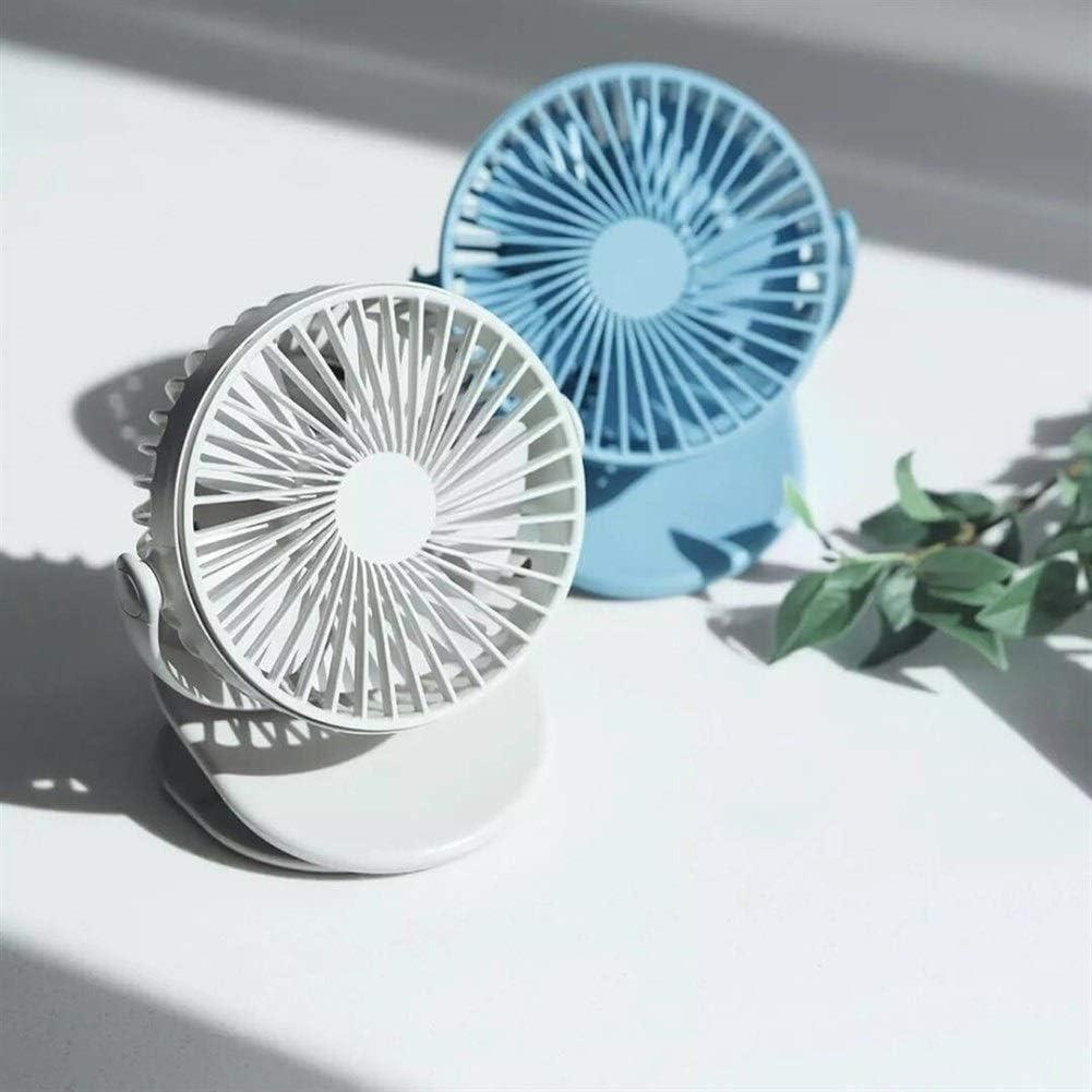 Color : Blue YIWU Mini Fan Handheld Windshield Fan 360 Degree Front Mesh Removable Fan for Home Office