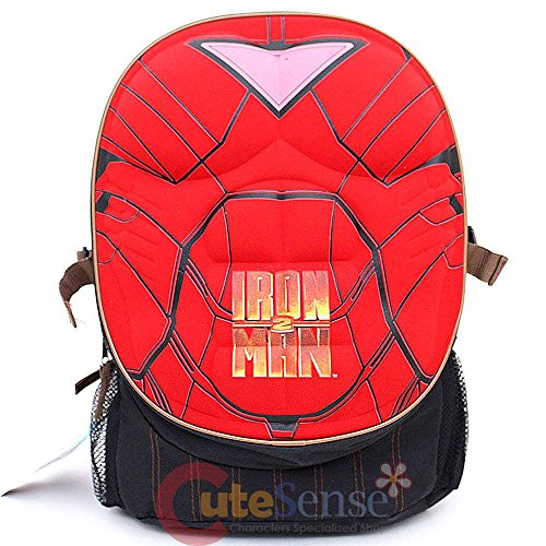 Superman 16 Inch Backpack with Padded Chest Plate (Ironman 3DChest (Red)) -
