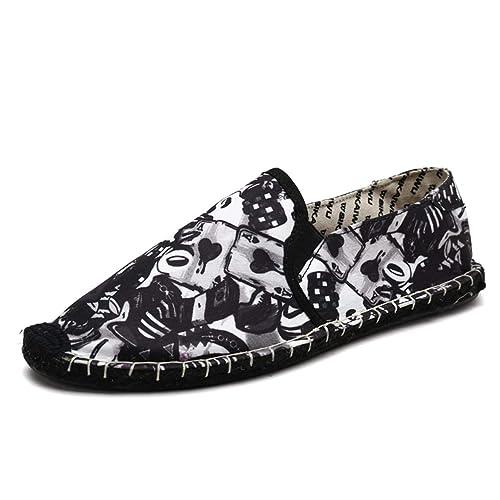 Alpargatas Hombre para Mens Casual Flats Zapatillas De Lona: Amazon.es: Zapatos y complementos