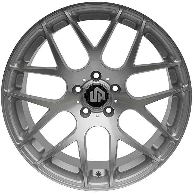 Amazon Com 19 Up720 Staggered 5x114 3 Wheel Set In Silver Machined
