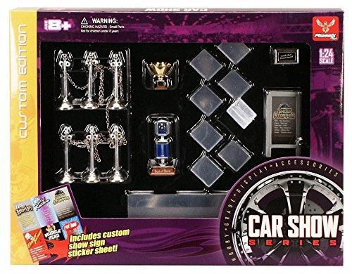 Car Show Series - Phoenix Garage Diorama Accessory Set 18410 - 1/24 scale diecast car diorama accessory