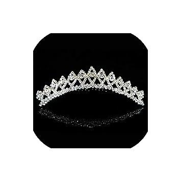 Womens Princess Bridal Metal Rhinestones Tiara Crown Headband Hair Band WeddingF