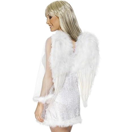 Alas de ángel accesorios plumas traje disfraz cielo: Amazon ...
