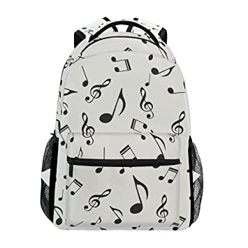 COOSUN Notas Musicales Casual Patrón Mochila Mochila Escolar Bolsa de Viaje: Amazon.es: Equipaje