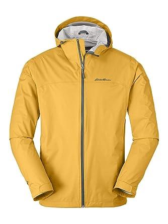 60754ba2f Eddie Bauer Men's Cloud Cap Lightweight Rain Jacket, Amber Regular XL