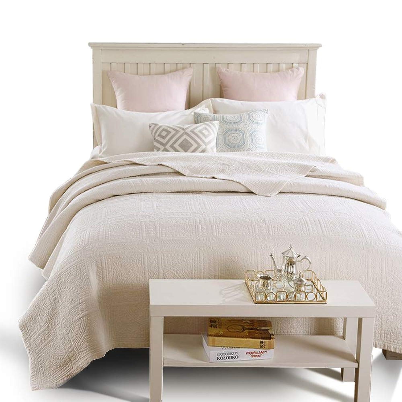 ベッドカバー ベッドスプレッド マルチ カバー キルト おしゃれ ダブル 綿100% 枕カバー 寝具カバーセット 3点セット 四節適用 優しい肌触り