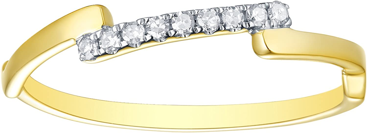 Prism Jewel 1.20MM 0.07CT G-H//I1 Natural Diamond Light Weight Fancy Ring