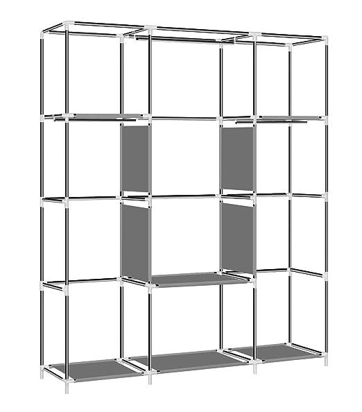 Amazon.com: YOUUD armario portátil de tela no tejida de 59 ...