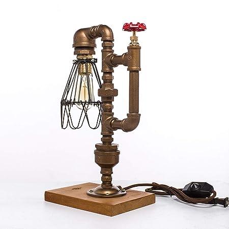Rishx Lámpara de escritorio retro americana de la pipa de agua ...