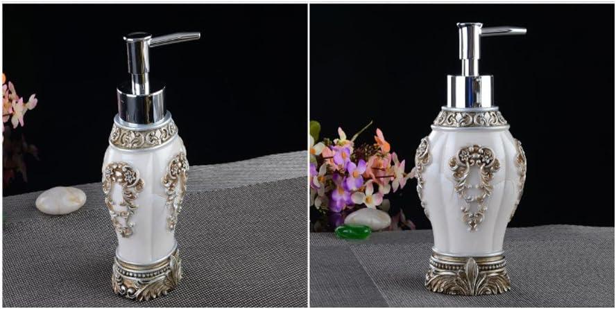 Yvonnelee Bad Accessoires Set 5-teilig Badezimmer-Set Seifenspender Zahnb/ürstenhalter//Zahnputzbecher Seifenschale