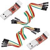 Anpro 2 × CP2102 USB zu TTL Konverter 5PIN Stecker Modul mit eingebautem für 3.3V und 5V, EINWEG