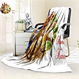 SOCOMIMI Luminous Microfiber Throw Blanket golden tea service on white background colorful islamic muslim holidays decorat Glow In The Dark Constellation Blanket, Soft And Durable Polyester(60''x 50'')