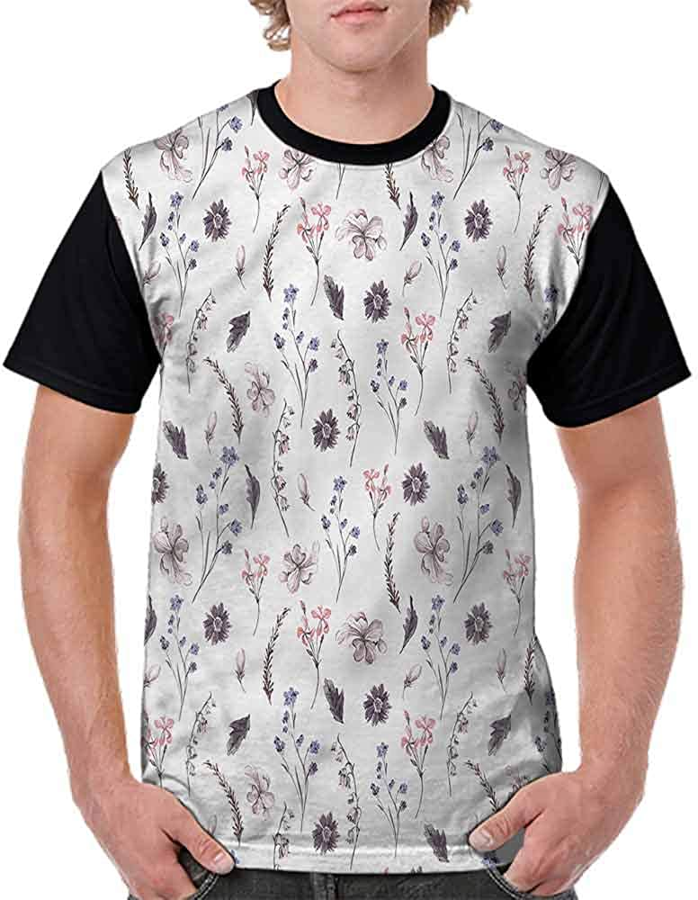 BlountDecor Classic T-Shirt,Natural Springtime Orchids Fashion Personality Customization
