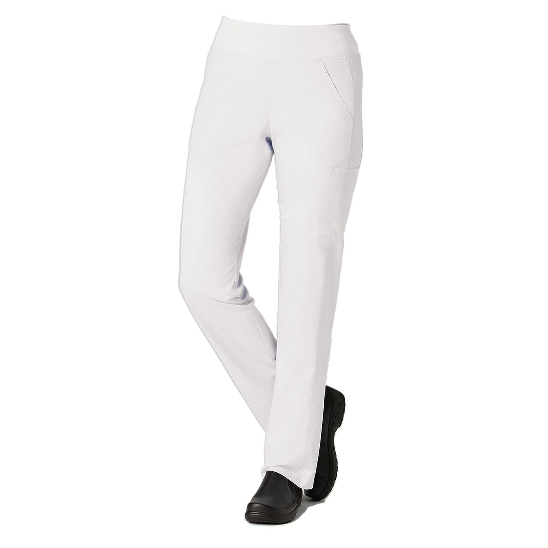 (メイヴン) Maevn レディース Eon Pure ヨガスタイル スクラブパンツ 7つのポケット付き B078RSHNB1 Small Tall|ホワイト ホワイト Small Tall