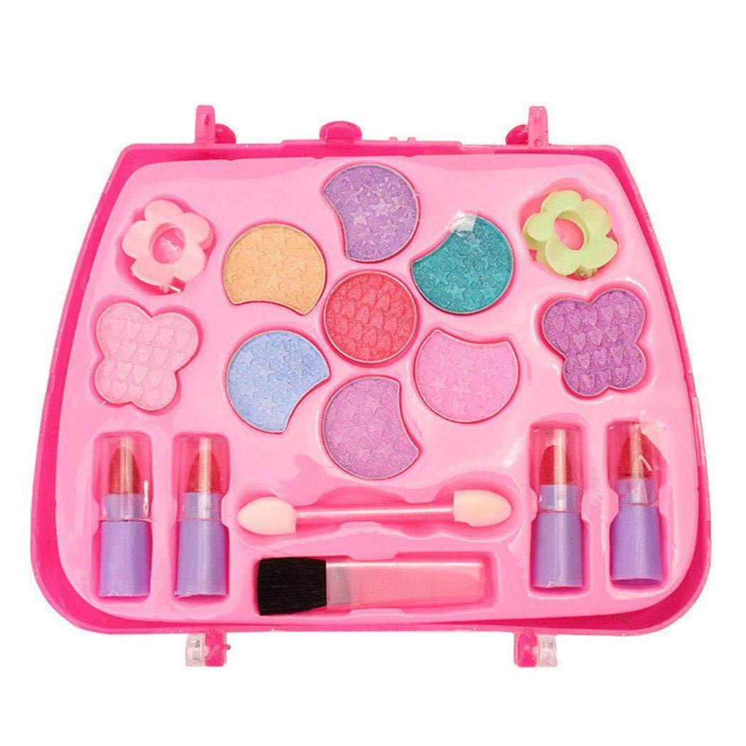 Erholi Girls Make-Up Box Princess Traveling Cosmetic Pretend Play Toy Set for Kids Gift Makeup by erholi (Image #4)