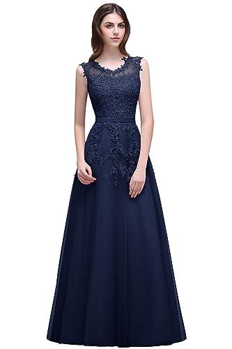 Babyonline Women's Lace A Line Formal Evening Dress for Women Long Prom Dress