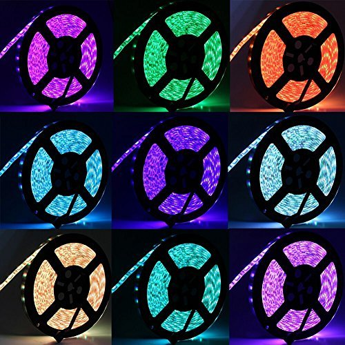 RUICAIKUN 10M LED Light Strips Waterproof Flexible RGB SMD5050 150 LED Strips Kit with Remote and 12V Power Supply,RGB Strip for Party Holiday Home and Outdoor by RUICAIKUN (Image #4)
