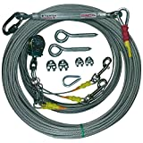 Freedom Aerial Double Dog Trolley Run Cable 2 Dogs FADR-DD500 (Small Dogs, 200 FT)