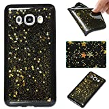 Samsung Galaxy J5 2016 Case, Samsung Galaxy J5 2016 Glitter Case,Cozy Hut 3D Luxury Gold Star Design High Quality Plastic Shell Shockproof Soft Case Cover Flexible Cell Phone Hull for Samsung Galaxy J5 2016 - Golden stars