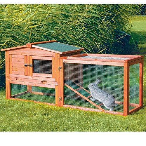 Rabbit Cage Hutch by Trixie Extra Small Size Two Story Level Outdoor Run Play Area Great for Rabbits or Other Small Pet Animals by Trixie