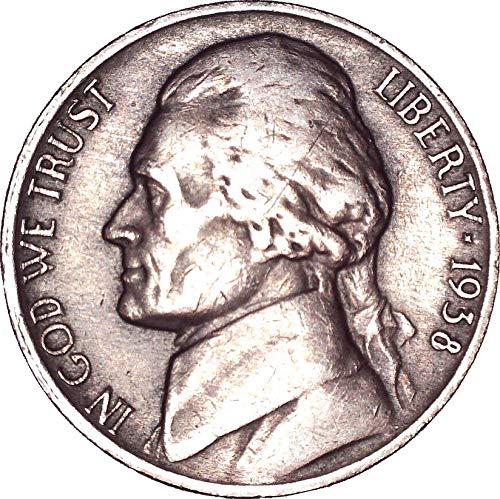 1938 Jefferson Nickel - 1938 Jefferson Nickel 5C About Uncirculated