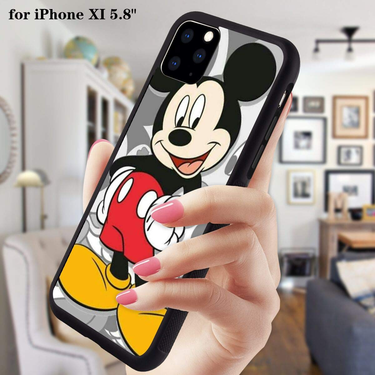 DISNEY COLLECTION PC and TPU Case iPhone 11 Pro 5.8 Inch Happy Mickey Mouse