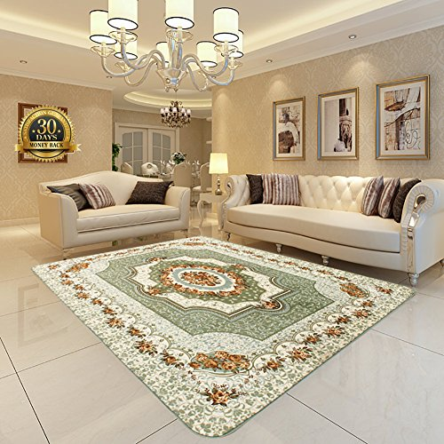 - Floral Style Lving Room Carpet, HIGOGOGO 74 by 110 inch Ultra Soft Machine Washable Large Area Rug Bedroom Living Room Rug , Thickness:1.2CM Children Play Mat Fashion Play Mat Door Mat