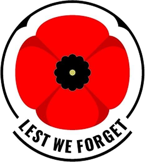 lepni me th of remembrance sunday poppy day sticker