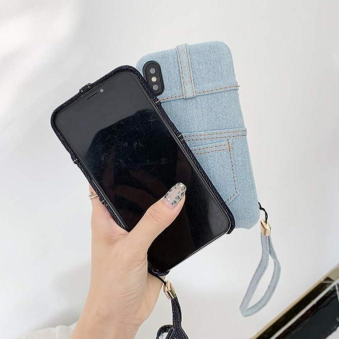 Amazon.com: UnnFiko Jean - Funda con tarjetero para iPhone 7 ...